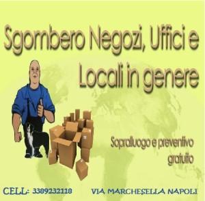 Sgombero Cantine GIUGLIANO IN CAMPANIA (NA) - LA VETERANA TRASLOCHI